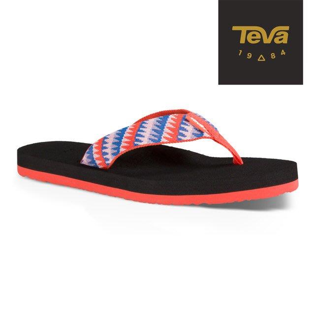 體育課 TEVA TV4198TTCR(珊瑚橘) 女  戶外休閒 經典織帶夾腳拖Mush II Flip-Flop
