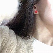 Sosoj 925 silver12mm 水晶耳環