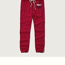 Maple麋鹿小舖 Abercrombie&Fitch * AF 紅色電繡貼布長棉褲*( 現貨L號 )