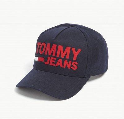 (預購)TOMMY JEANS Flock logo cotton snapback cap 棒球帽(藍色區)