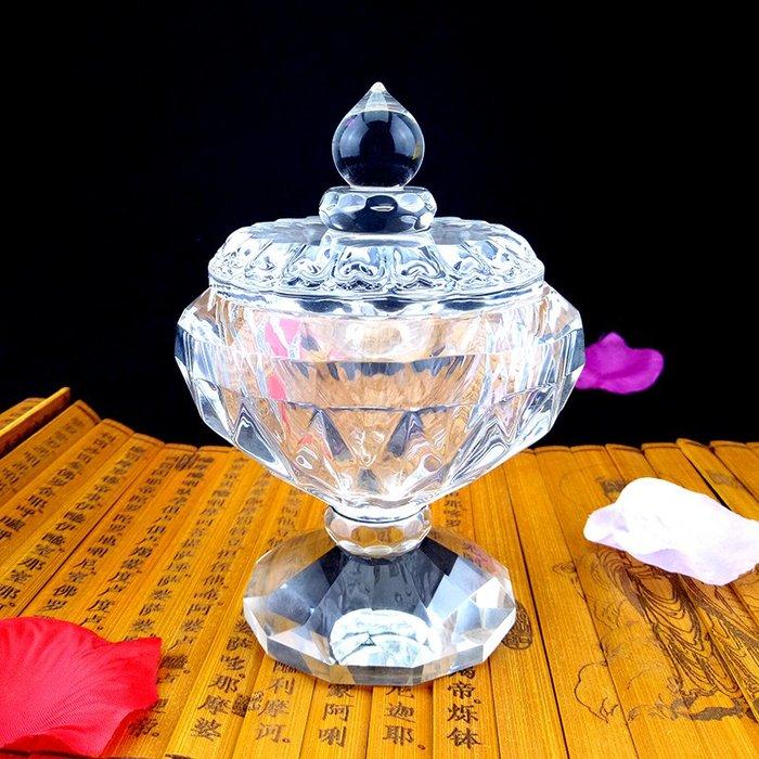 【弘慧堂】佛教用品佛堂供杯白水晶透明聖水杯大悲水大號供養宗教 佛具水晶杯