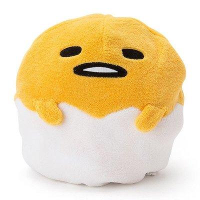 尼德斯Nydus 日本正版 三麗鷗 蛋黃哥 可變身絨毛玩偶 毛毯 披巾 毯子 高約25cm 好冷~