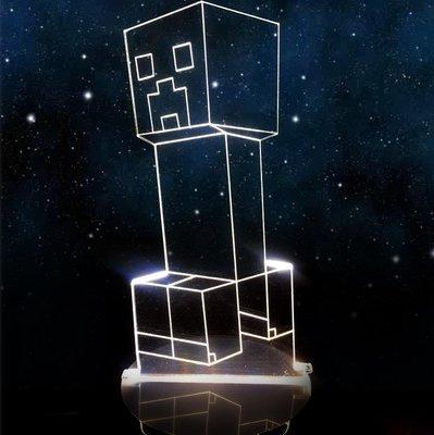 人偶服裝我的世界夜燈minecraft發光新品人偶擺件玩具Minecraft周邊火把3d悠悠
