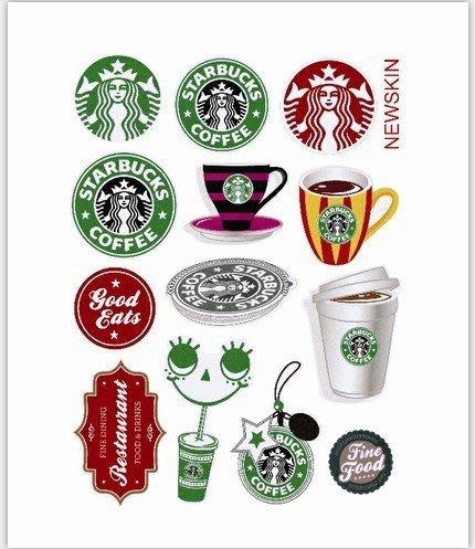 星巴克 Starbucks系列 Ⅱ 貼紙 潮牌 可反覆貼黏 手機 筆記本 行李箱貼紙 防水 旅行箱貼紙 - 14枚 ✈