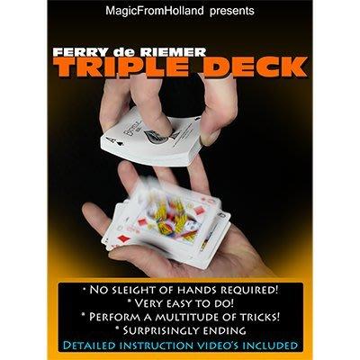 【天天魔法】【S800】正宗原廠~超級幻影撲克~Triple Deck by Ferry De Riemer
