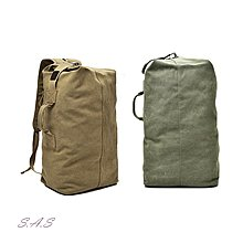 SAS 旅行圓筒包 背包客專用 大容量多夾層 旅行大容量後背包 帆布圓筒雙肩包 運動背包 旅行後背包【661】