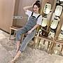 ❤JM SHOP韓風❤時尚chic捲邊背帶褲水洗做舊...