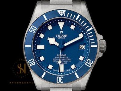 【鴻昇名錶】TUDOR 帝舵 PELAGOS 鈦金屬 25600TB 附膠帶 排氦 Pelagos 藍水鬼 AC7011