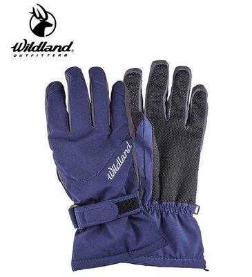 丹大戶外用品【Wildland】荒野 中性彈性PR防風防水手套-深藍 型號 0A22002-72