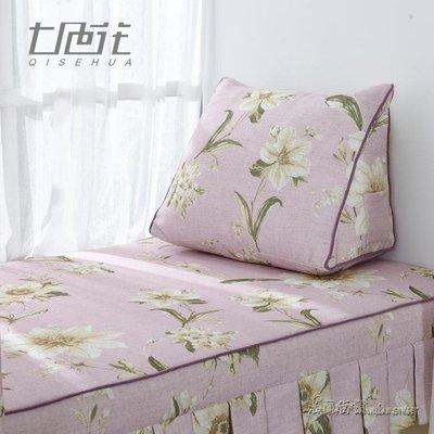美式田園臥室窗台枕頭棉麻榻榻米靠墊三角枕igo