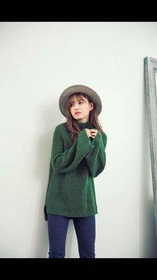 轉賣Grooming korea綠色傘袖毛衣