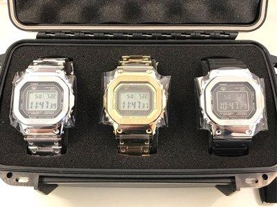 casio g-shock 金&銀&銀黑膠 GMW-B5000