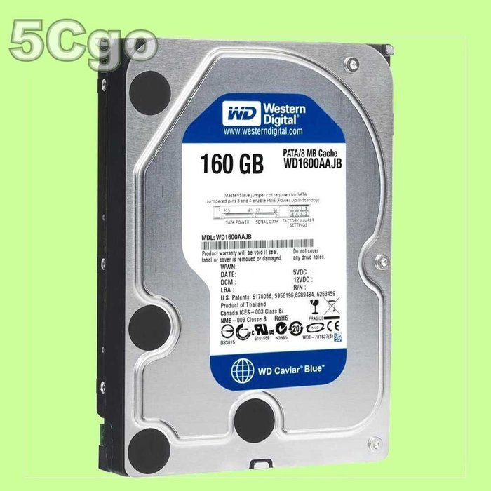 5Cgo【權宇】西數WD WD1600AAJB 3.5吋160G 160GB IDE 7200轉16M藍盤硬碟 含稅