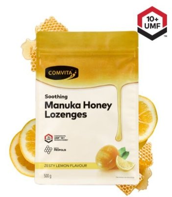 純淨紐西蘭🌿 康維他 麥盧卡喉糖 蜂膠蜂蜜檸檬潤喉糖 Comvita UMF10 500g 大包 台北市