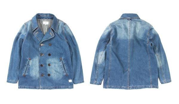 { POISON } LESS Denim P-Coat Washed Denim Blue 首發傑作 水洗丹寧短大衣