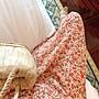 限時早鳥價到6/30調回原價690休閒洋裝 涼爽雪紡小碎花收腰顯瘦開叉連身裙 艾爾莎【TAE8324】