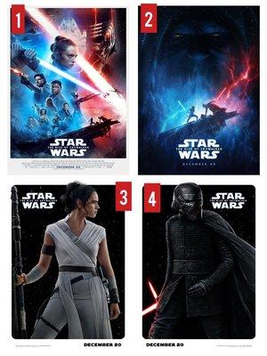 (電影海報) 星際大戰9 天行者的崛起 黑武士 天行者 Star Wars 迪士尼 奧斯卡 嘉莉費雪 路克 機器人