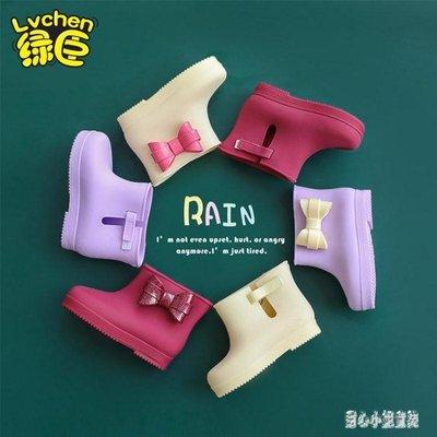 兒童雨鞋 女童公主防水雨靴可愛防滑寶寶膠鞋小孩幼兒水靴小童 nm14242