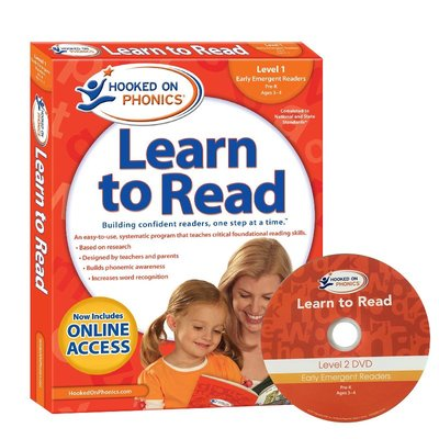 英文原版 自然拼讀 迷上語音 第一級 Hooked on Phonics Learn to Read Pre-K Lev