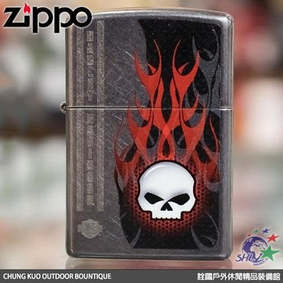 馬克斯 ZP360 Zippo 美系經典打火機 哈雷系列 火焰骷髏 NO.28618