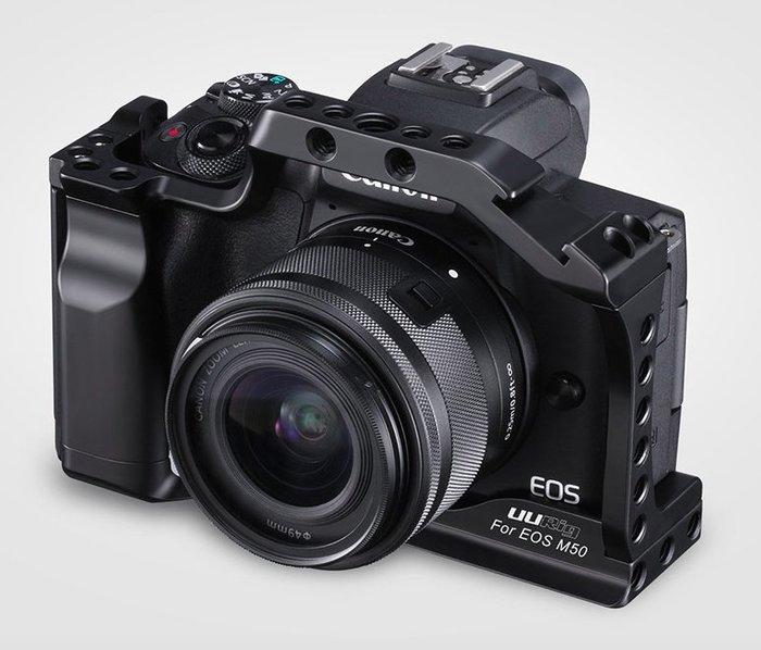 *大元 台南*【Vlog配件】Canon EOS M50 相機兔籠 鋁合金兔籠 可擴充麥克風 補光燈 (本賣場不含主機)