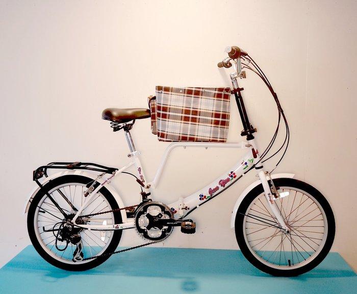 JY (豪華版) 20吋 21速 SHIMANO (中籃) 寵物腳踏車 (白/粉紅/紅/黑色) 拆掉橫座變淑女車 寵物籃