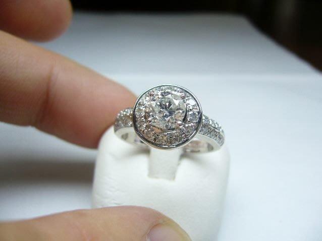 [吉宏精品交流中心]1.02克拉 南非天然鑽石 白K金 造型 戒指