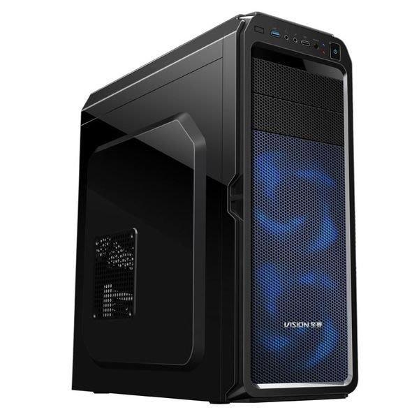 【小楊電腦 】全新全透明側板 36CM顯示卡至睿 X6 全透版 電腦機殼 ATX MATX 黑/白色可走背線