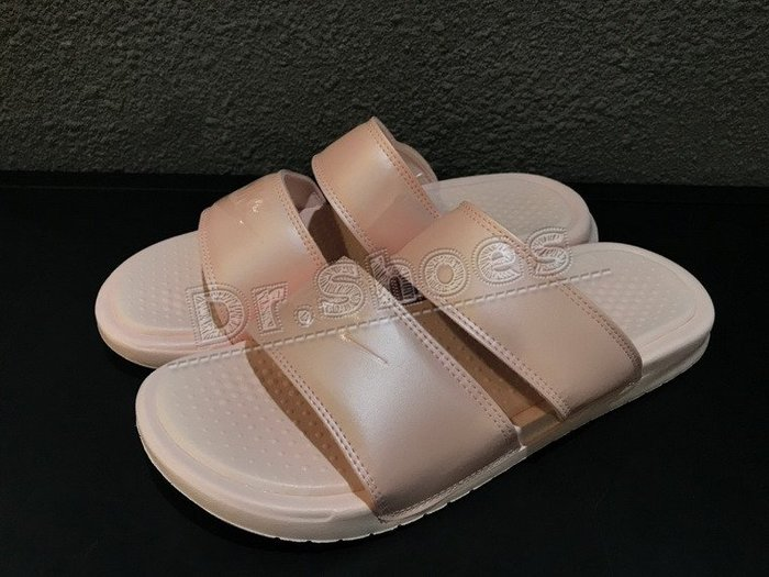 【Dr.Shoes】Nike Benassi Duo Ultra 女款 粉 軟底拖鞋 819717-605
