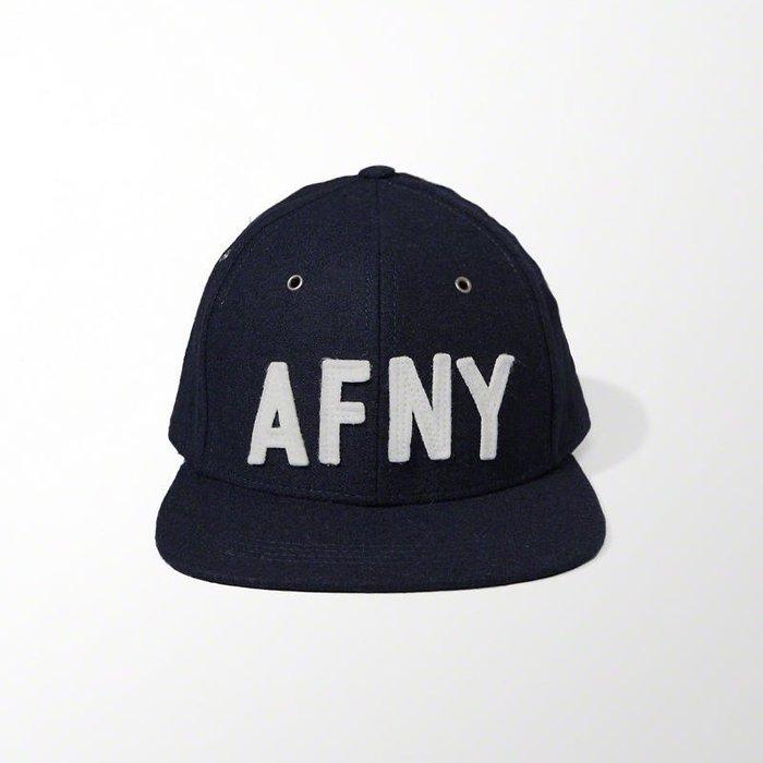 美國百分百【全新真品】Abercrombie & Fitch 帽子 AF 棒球帽 羊毛氈 麋鹿 深藍 Logo H416