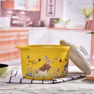 {rest house} 英國比得兔砂鍋燉鍋居家用陶瓷煲湯鍋煲湯明火耐高溫石鍋陶瓷鍋燉鍋