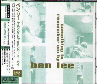 K - BEN LEE - SOMETHING TO REMEMBER ME BY - 日版 +2BONUS - NEW