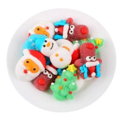 現貨~創意聖誕節糖果QQ橡皮糖網紅可愛聖誕老人雪人果膠軟糖平安夜禮物