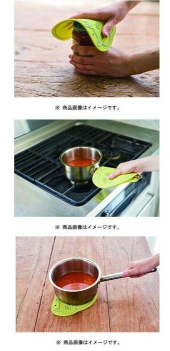 天使熊小舖~日本帶回動物造型 3way 多功能 矽膠隔熱墊 /隔熱握墊  現貨:小豬造型款  全新現貨