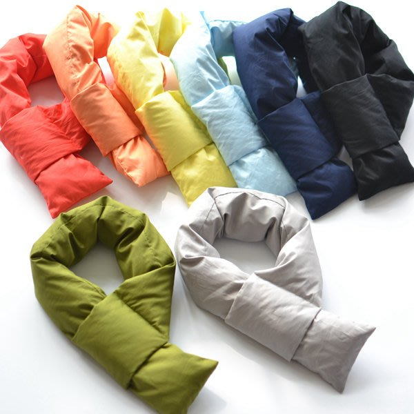 加厚 羽絨 純棉 保暖護頸圍脖 冬季 親子圍巾 女士 男士 情侶 百搭 羽絨圍巾 保暖圍巾
