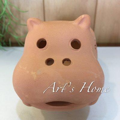 藝術的家生活雜貨傢飾家具-可愛動物系列/河馬造型紅陶花器/花盆