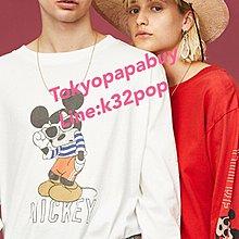 合購優惠《東京趴趴買 日本代購》日本品牌Disney series created by moussy米奇圖案T