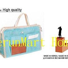 PD1加厚版手提式收納包化妝包多功能包中包袋中袋包中袋整理袋/機票包證件夾護照夾護照包