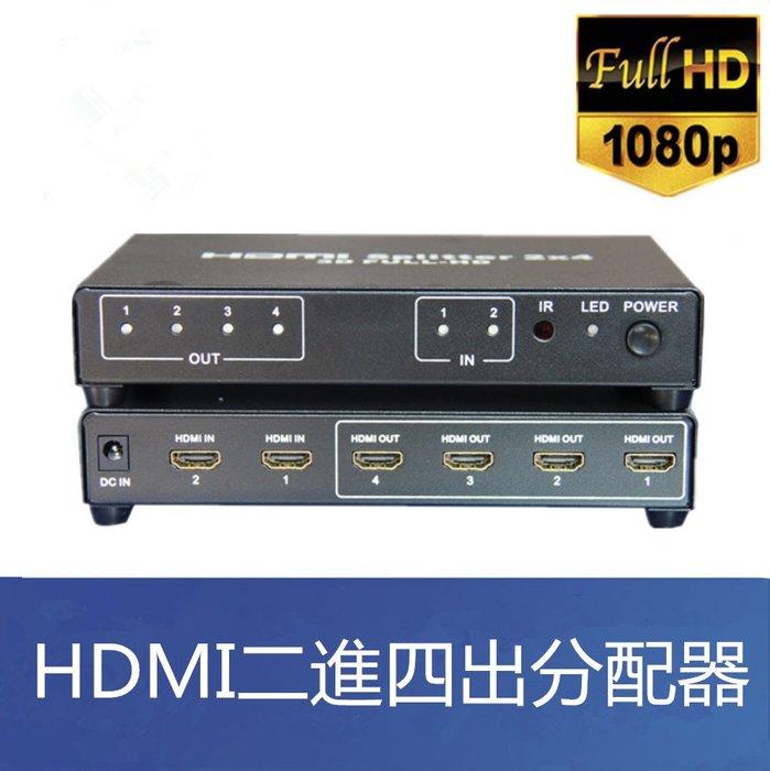 【易控王】HDMI高畫質二進四出分配器/2x4選擇分配器(40-220)