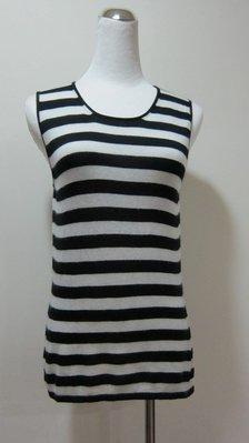 一線國際名品-毛衣專家-STRIKING-黑白條紋針背心--原價快兩萬.私務割愛
