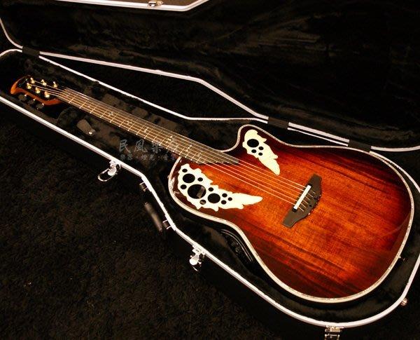 《民風樂府》韓廠 Ovation Elite Plus KOA C2078AXP-KOA 相思木 葡萄孔圓背吉他