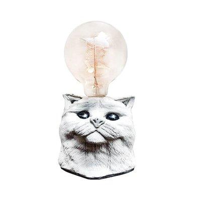 【曙muse】金吉拉貓咪桌燈(兩色可選) 個性水泥桌燈 造型檯燈 Loft 工業風 咖啡廳 民宿 餐廳 居家擺設