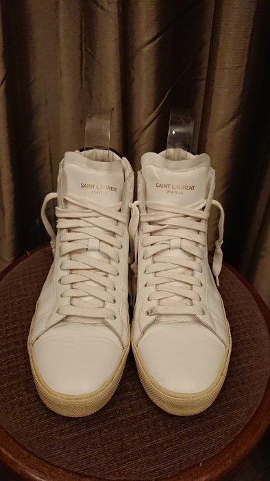 Saint Laurent 白色半高筒球鞋