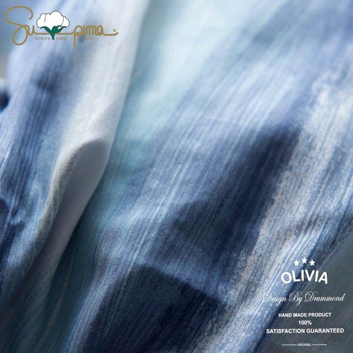 【OLIVIA 】DR980 海克力斯 條紋床包 標準雙人床包薄被套四件組   300織匹馬棉系列 台灣製