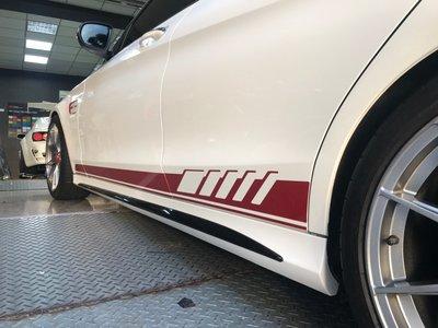 【凱威車藝】Benz 賓士 W205 德國原廠 車身 線條 貼紙 多種顏色可選 3M/歐瑞克下標區