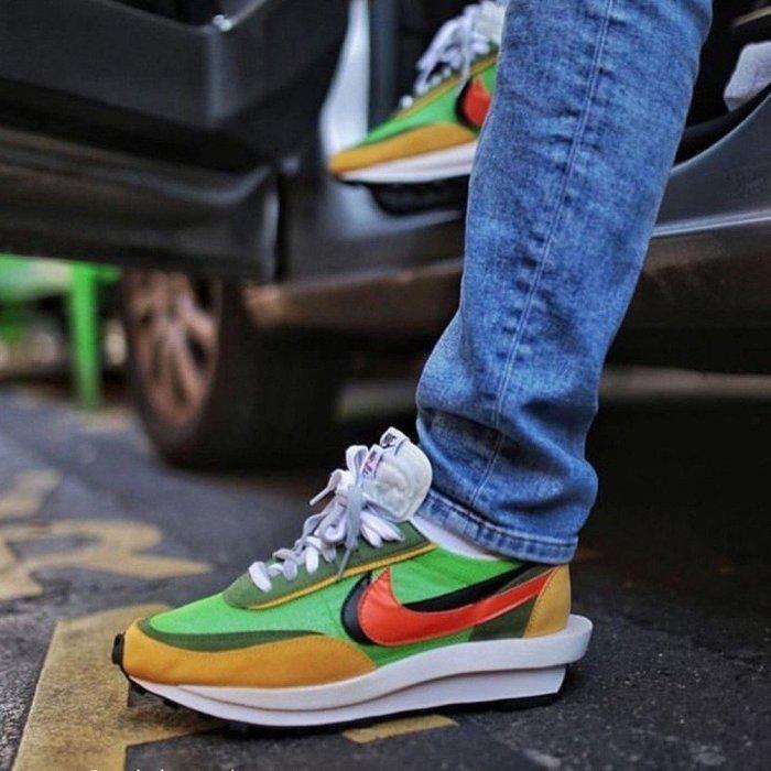 Sacai x Nike LDV Waffle 聯名 綠 橘 解構 網面 透氣 男女鞋BV0073-300