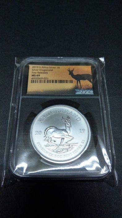 Ω≡ 銀幣 ≡Ω 2019年 /  南非克魯格羚羊1oz紀念銀幣【 NGC MS 69 】