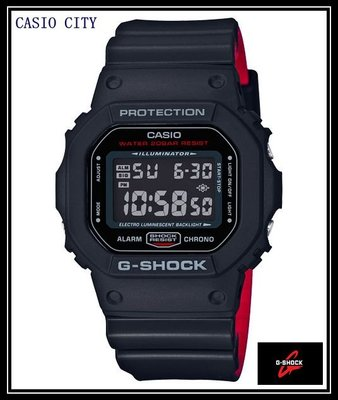 [CASIO CITY]G-SHOCK絕對強悍~黑×紅設計出雙色錶帶DW-5600HR-1無限Tough的精神