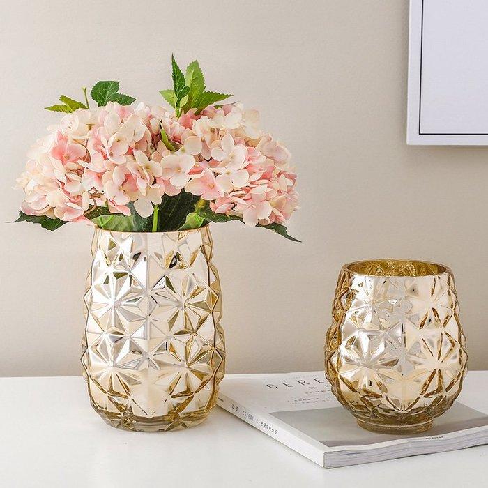 〖洋碼頭〗歐式創意幾何鮮花仿真插花花瓶客廳餐桌電視櫃玻璃客廳裝飾擺件 ybj332
