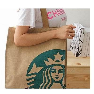 Starbucks 星巴克 - 日本版~厚實帆布袋(大款) 厚帆 隨行杯環保手提袋便當袋